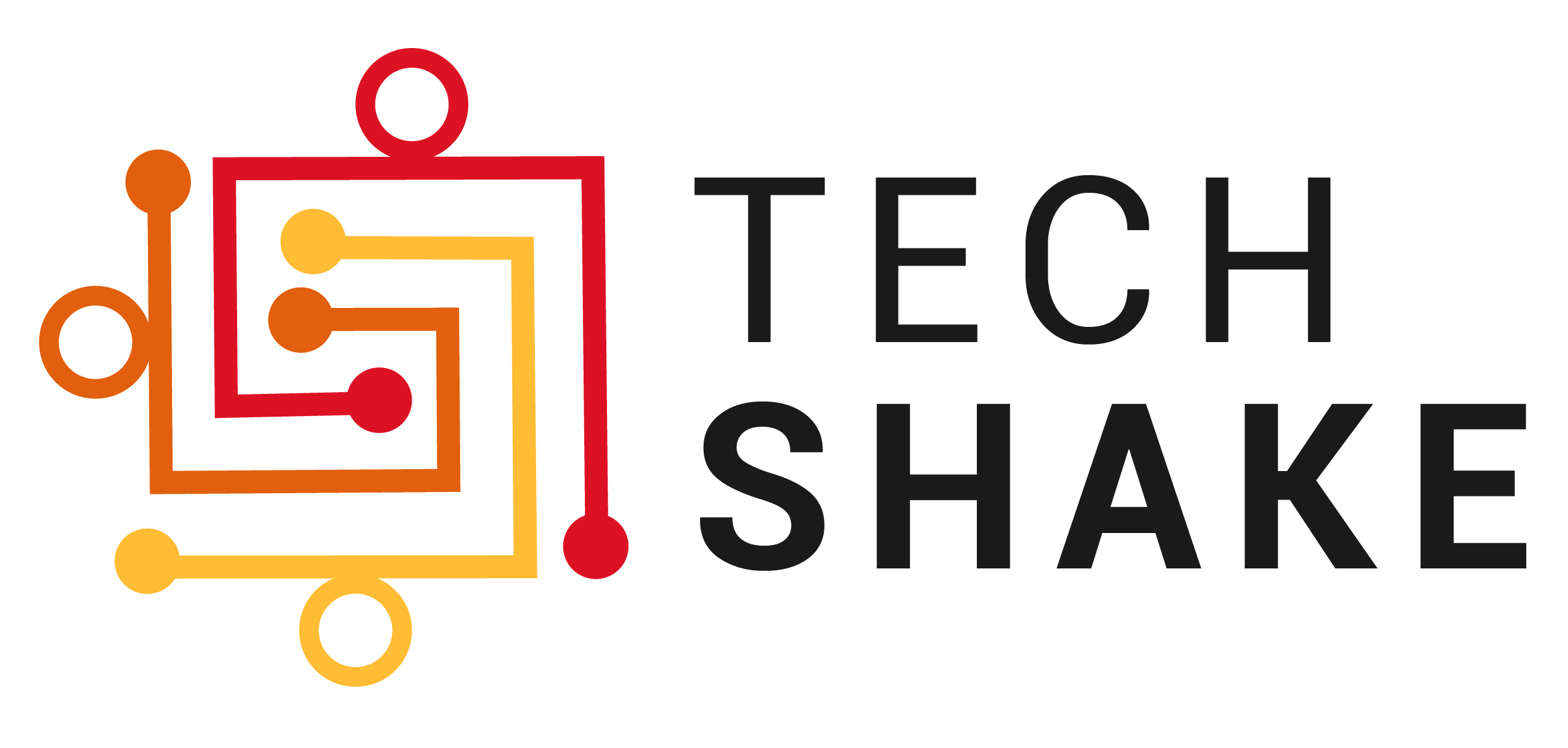 Techshake logo inverted